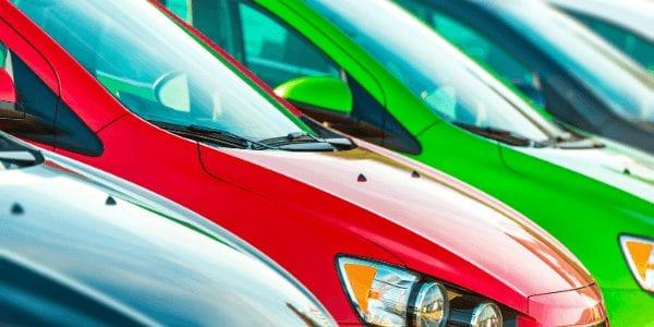 coloured cars